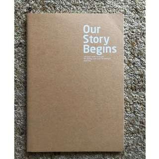 Blank B5 size notebook