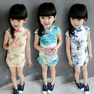 *FREE DELIVERY to WM only / Pre order 15-18 days* Kids qipao dress each as shown design/color. Free delivery is applied for this item.