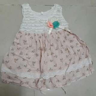 Sweet Peach Flower Dress