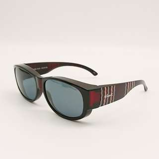 🚚 👍眼鏡族福音👍 [檸檬眼鏡] Hawk HK1002 Col.43 摩卡棕 偏光太陽套鏡 可套掛 可獨戴-1