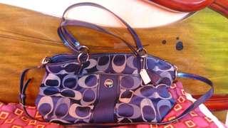 Authentic Coach bag classic design Royal blue