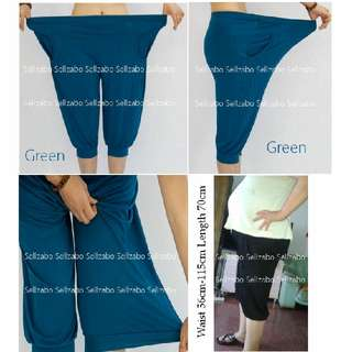 #B1 Free Size Relax Casual Knee Pants 2 Pockets Sellzabo Loose Comfortable #S143