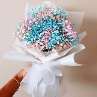 #070 Baby's Breath Bouquet Tri Colour