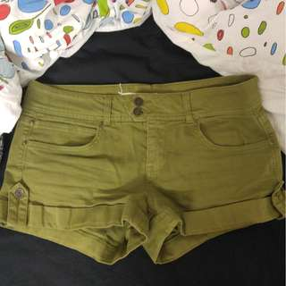 Army green shorts size 27 from f21