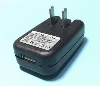 USB 火牛 (兩腳扁插頭)