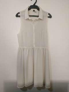 DIVIDED White Dress