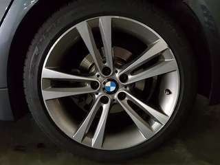 Original BMW 18-inch rims + Michelin PS3 tires