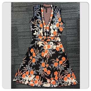 Bcbg- jacquard slim fit dress