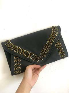 Two-way Black Clutch Bag