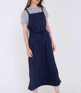 Midi dress/overall navy