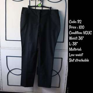 Chubby / Pregnant / Preggy for Office Black slacks pants