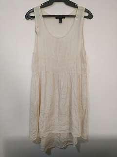F21 White Dainty Dress