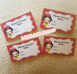 Book name stickers