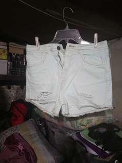 High waisted shorts.