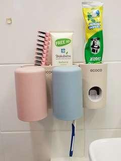 BNIB: Ecoco Toiletries Holder / Toothpaste Dispenser