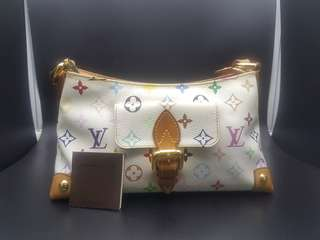 Original Authentic Louis Vuitton LV Eliza White Multicolour Shoulder Bag