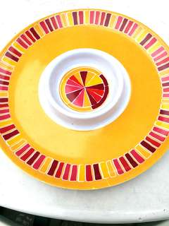 Brand new Export goods to Europe Chip and dip plate due 30cm