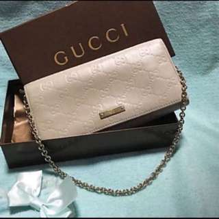 Gucci Guccissima Full Leather Wallet On chain (short WOC)