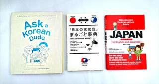Books bought in Japan/ Korea