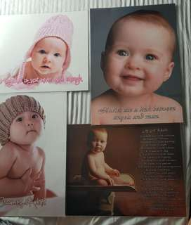 Blessing: 4 x baby posters