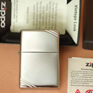 美國Zippo 打火機 260 Vintage with Slashes