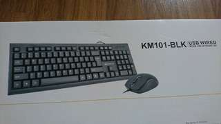 Reduced BNIB NEO Wired Usb Keyboard + mouse