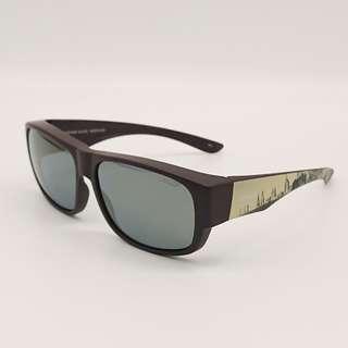 🚚 👍眼鏡族福音👍 [檸檬眼鏡] Hawk HK1010UK Col.OC 城市棕 偏光太陽套鏡 可套掛 可獨戴-1