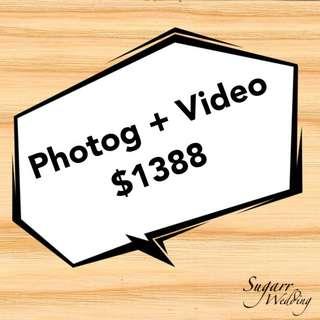 Wedding videographer & photographer
