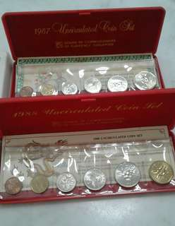 1988 & 1987 Uncirculated coin  set
