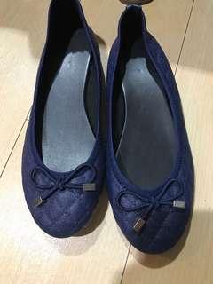 Dark blue ballet flats
