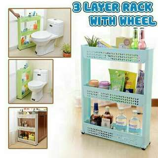 3 Layer Rack with Wheel