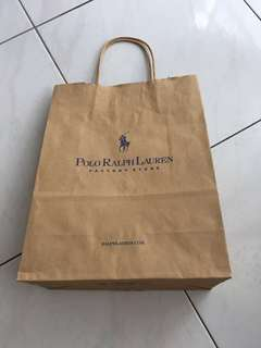 Polo Ralph Laurent ( paper bag ) 12,9,4 inches