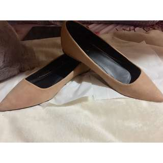 Something Borrowed Suede Pointed Flats