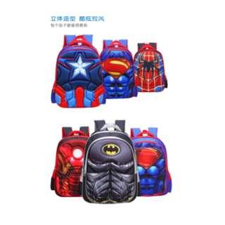 Superhero School Bag - Small ($20), Big ($25)