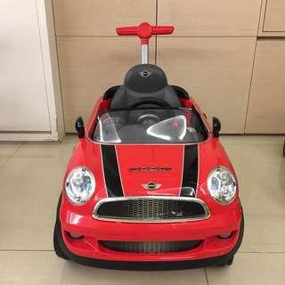 BMW原廠授權mini copper握把四輪後控助步車