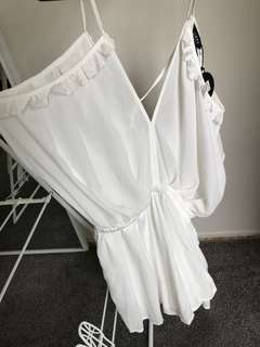 Brand new Lippy Playsuit white