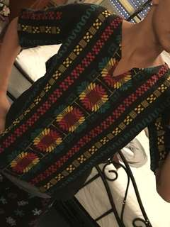 EMBROIDERED RASTA TOP