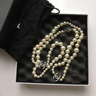 CHANEL Classic Timeless Pearls Long Necklace