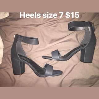 Black barely there heels
