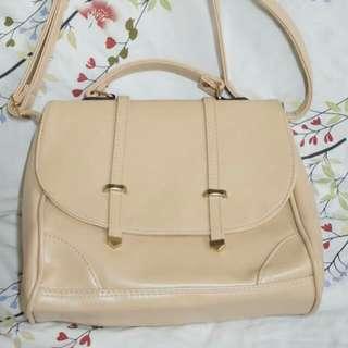 Repriced_ Beige Sling Bag