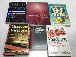 Executive/Marketing/management/finance books