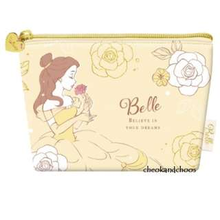 [PO] Disney Princess Boat Type Cosmetic Pouch with Tissue Holder Belle