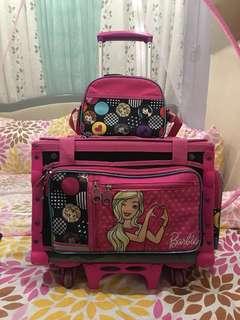 Authentic Barbie Trolley School Bag
