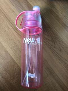 Spray Mist Water Bottle (Used once)