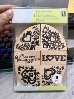 Wood Mounted Rubber Stamps  Step - Valentines' Day/ Anniversary