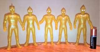 99%新絕版 Bandai 咸旦超人 黃金型態 透明 阿鄉 ACE 梅比斯 帝拿 廸加 5隻 SP EX UHS