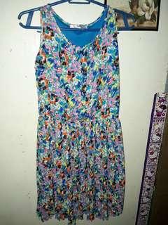 Neon Color Floral Dress
