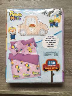 Pororo 3PC Single fitted sheet set