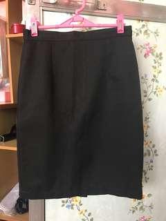 Highwaist Black Pencil-cut Skirt
