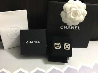 100% real chanel earrings